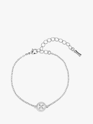 Ted Baker Brenna Mother of Pearl Button Chain Bracelet, Silver