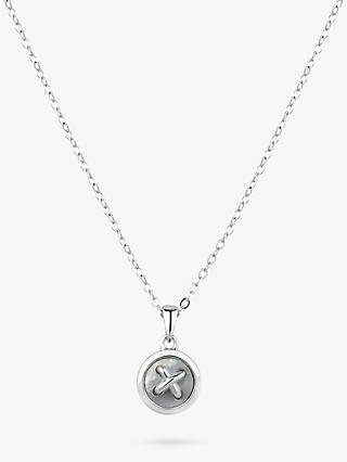 Ted Baker Blenra Mother of Pearl Button Pendant Necklace, Silver