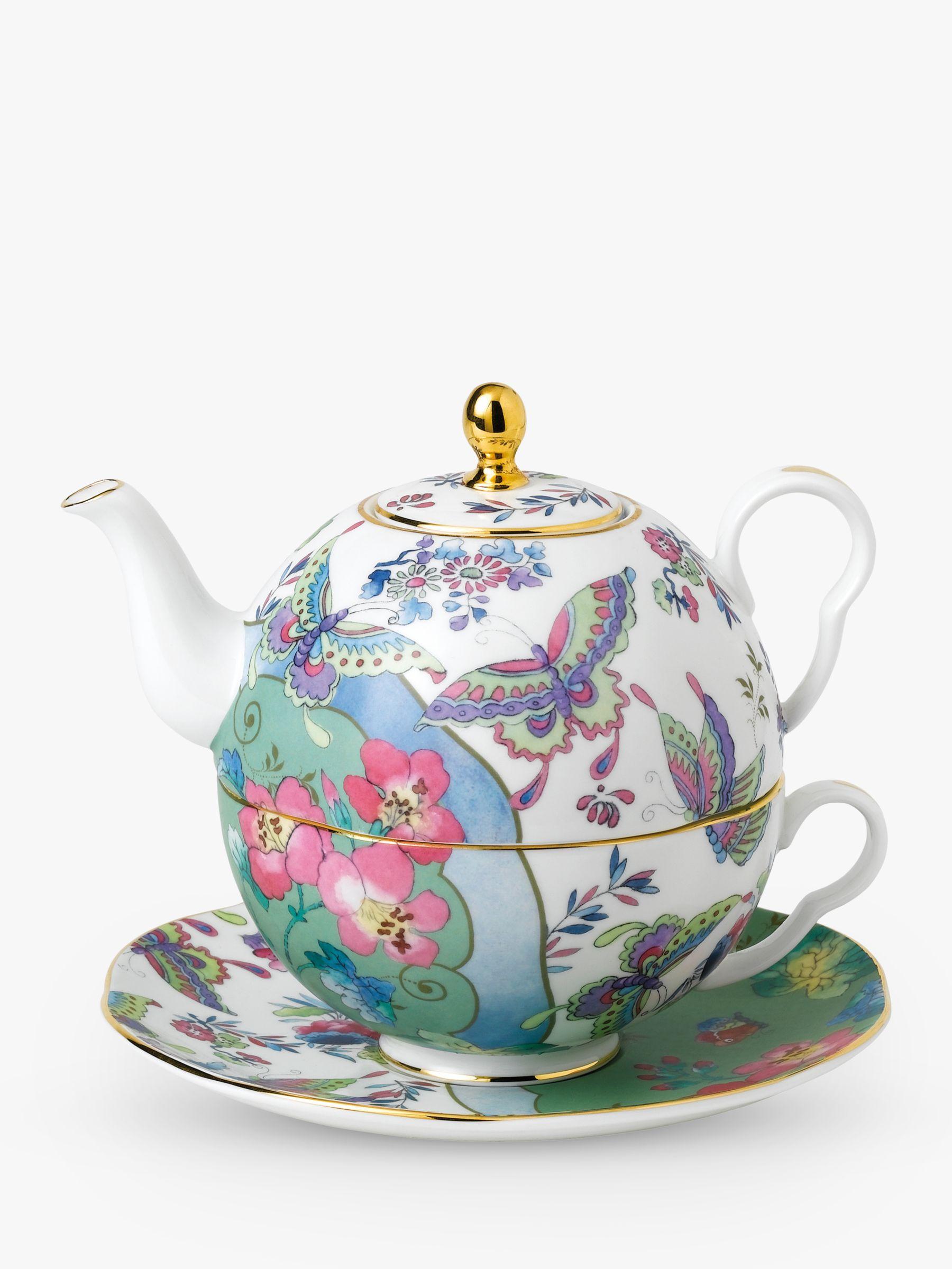 Wedgwood Cuckoo & Butterfly Bloom Tea-For-One Teapot, 940ml, Multi