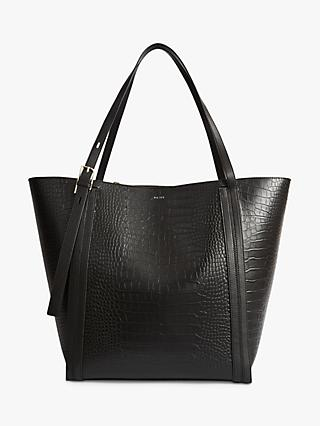 Reiss Allegra Leather Tote Bag