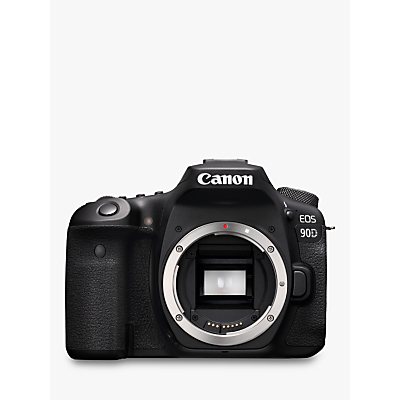 Canon EOS 90D Digital SLR Camera, 4K Ultra HD, 32.5MP, Wi-Fi, Bluetooth, Optical Viewfinder, 3 Vari-Angle Touchscreen, Body Only