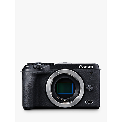 Canon EOS M6 Mark II Compact System Camera, 4K Ultra HD, 32.5MP, Wi-Fi, Bluetooth, 3 LCD Tiltable Touch Screen, Body Only, Black