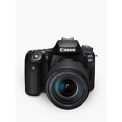 Canon EOS 90D Digital SLR Camera with 18-135mm Lens, 4K Ultra HD, 32.5MP, Wi-Fi, Bluetooth, Optical Viewfinder, 3 Vari-Angle Touchscreen