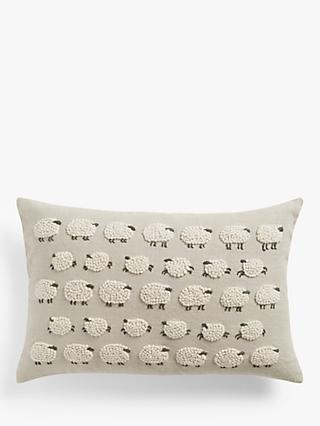 John Lewis & Partners Sheep Cushion, Natural