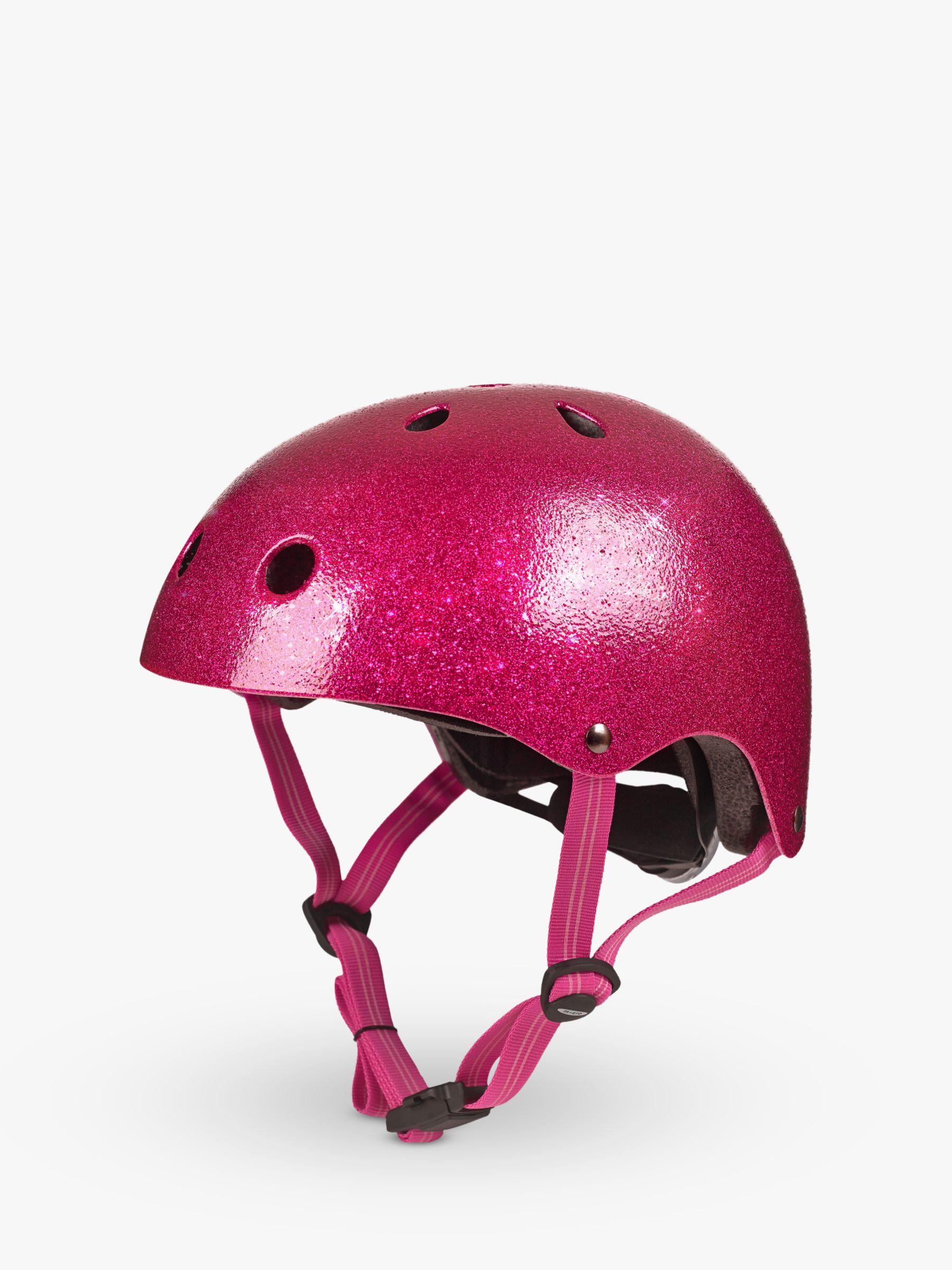 Micro Micro Deluxe Scooter Helmet, Glitter Pink, Medium