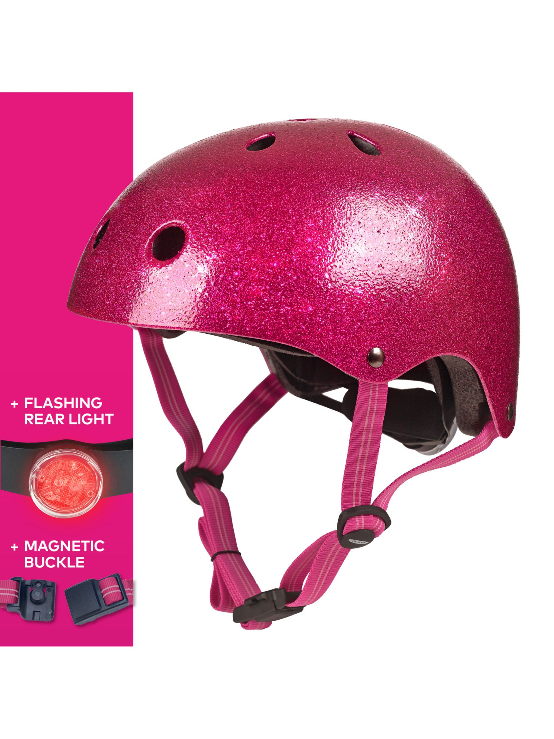 Micro Micro Deluxe Scooter Helmet, Glitter Pink, Small