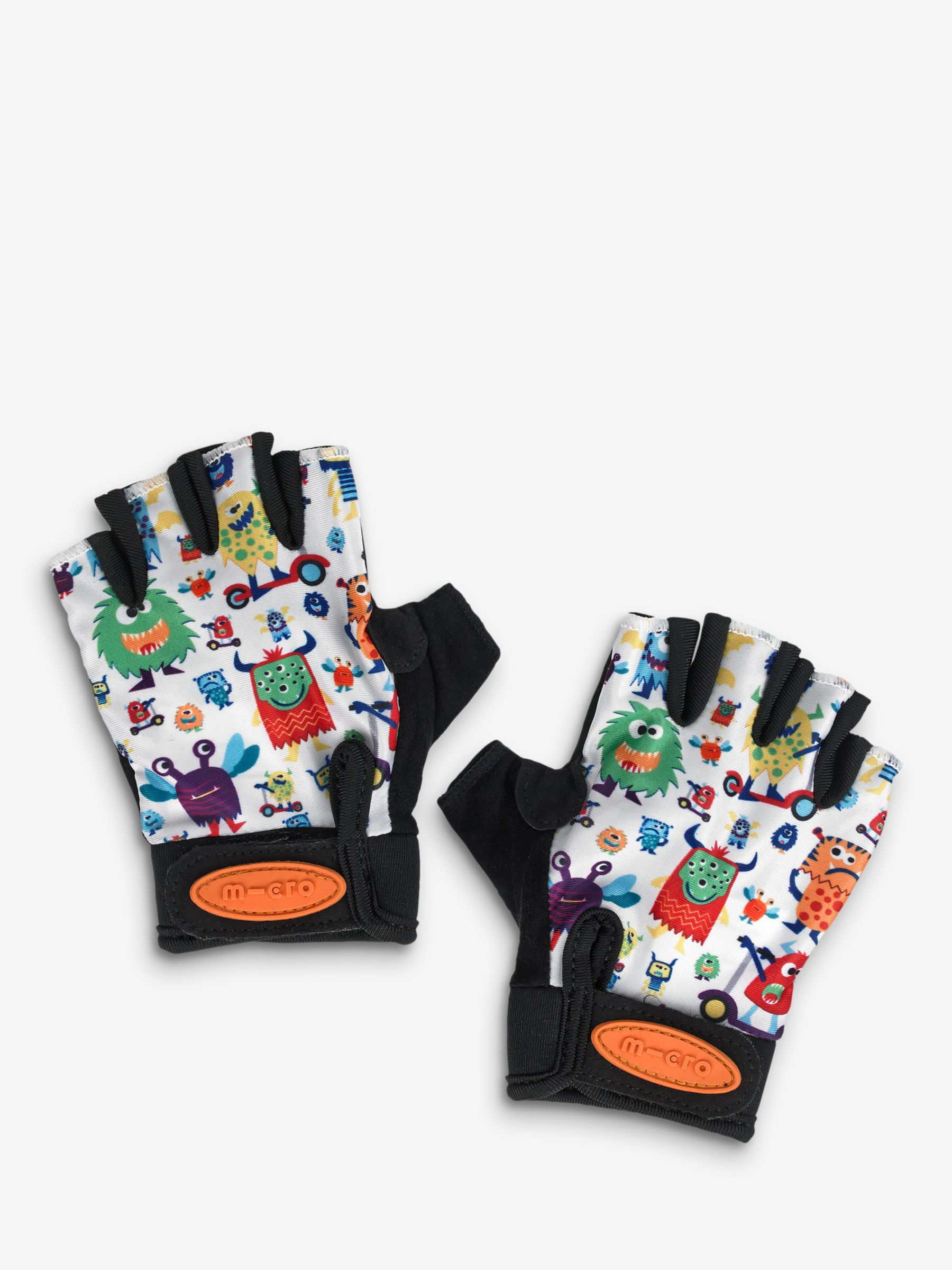Micro Micro Fingerless Scooter Gloves, Monsters