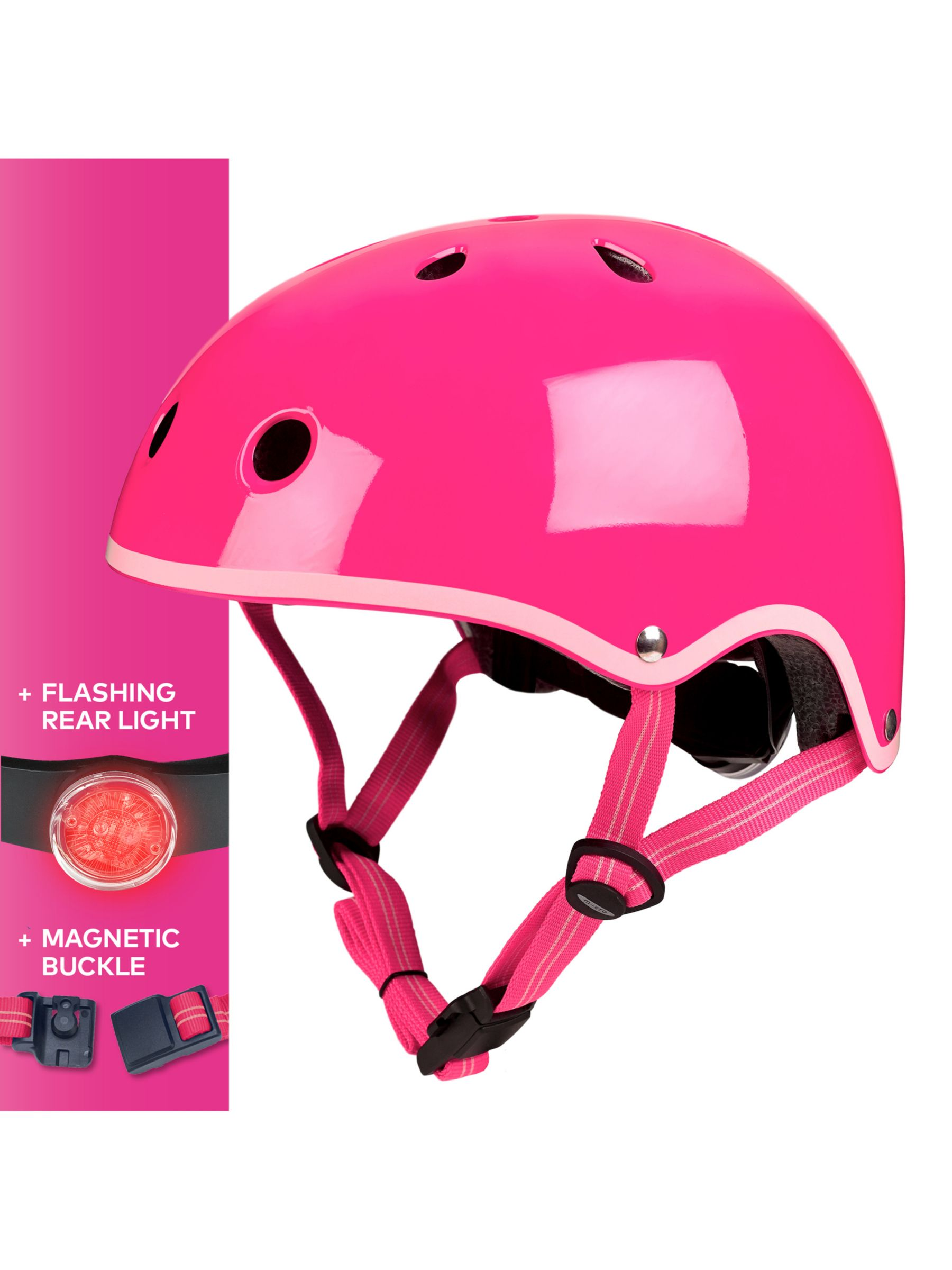 Micro Micro Deluxe Scooter Helmet, Neon Pink, Medium