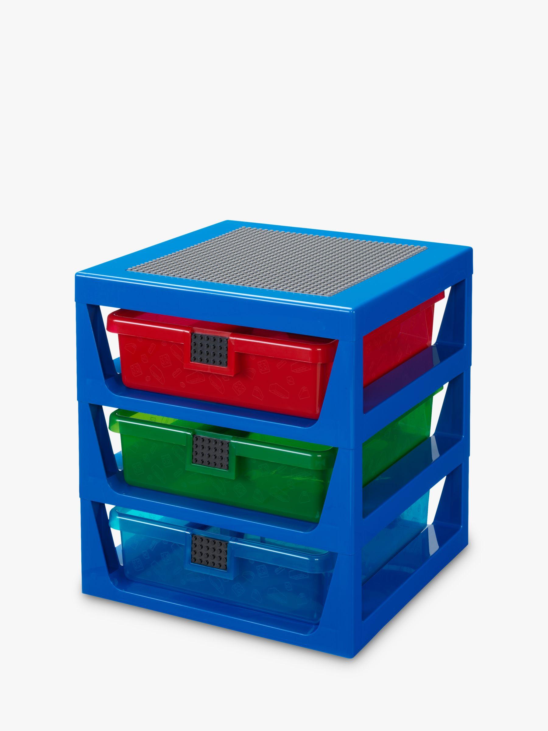 LEGO 3-Drawer Storage Rack System in Blue