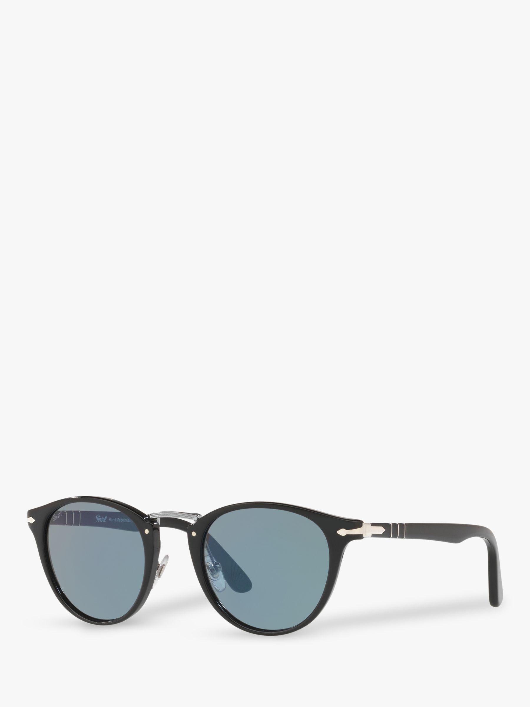 Persol Persol PO3108S Men's Oval Sunglasses, Black/Blue