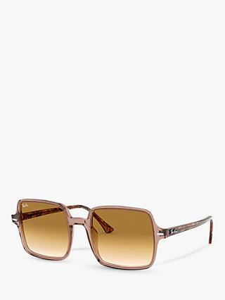 Ray-Ban RB1973 Women's Square Sunglasses, Havana/Brown Gradient