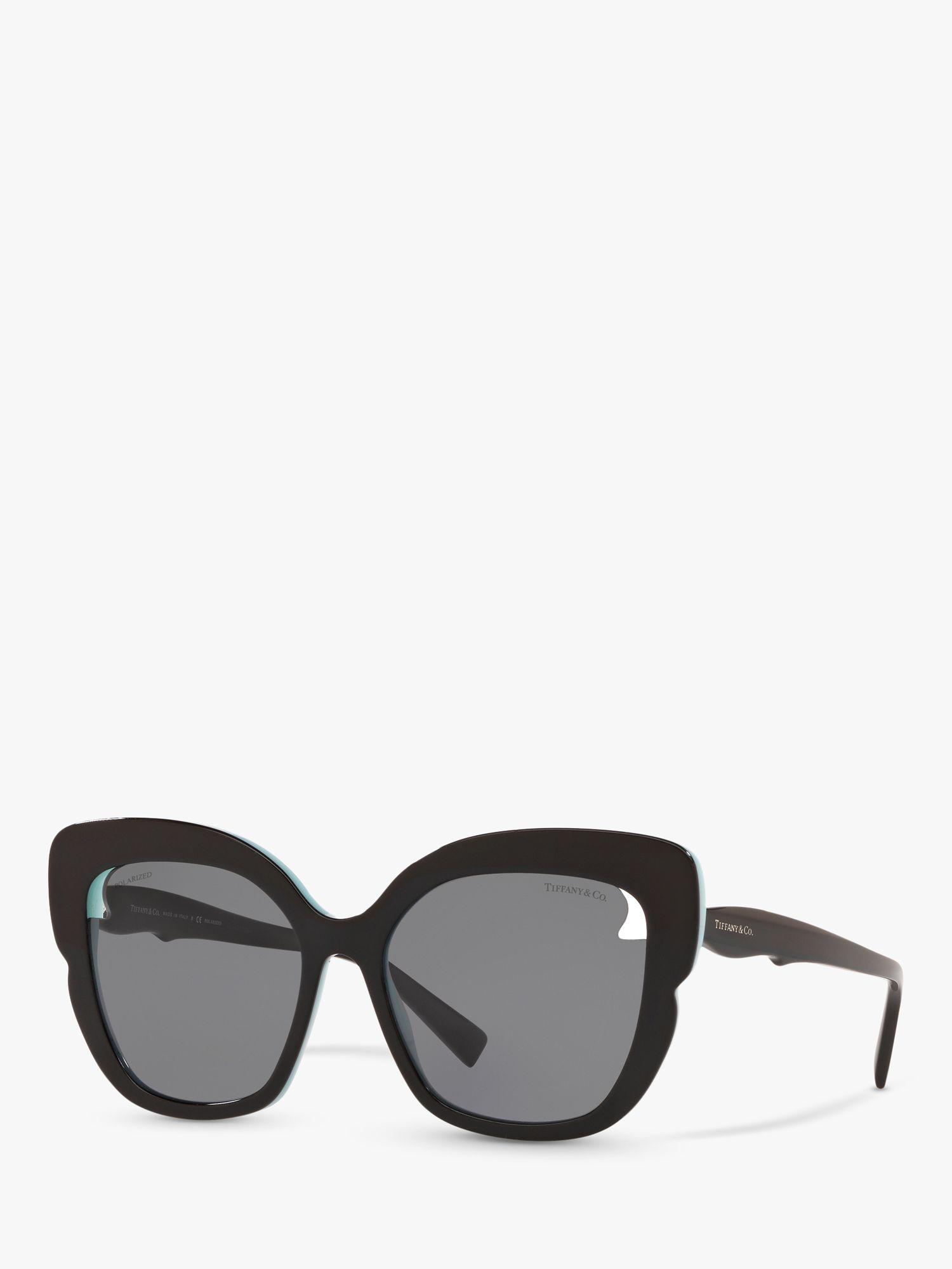 Tiffany & Co Tiffany & Co TF4161 Women's Polarised Square Sunglasses, Black