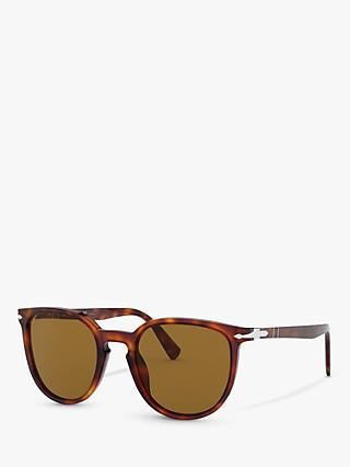 Persol PO3226S Special Edition Polarised Oval Sunglasses, Havana/Brown