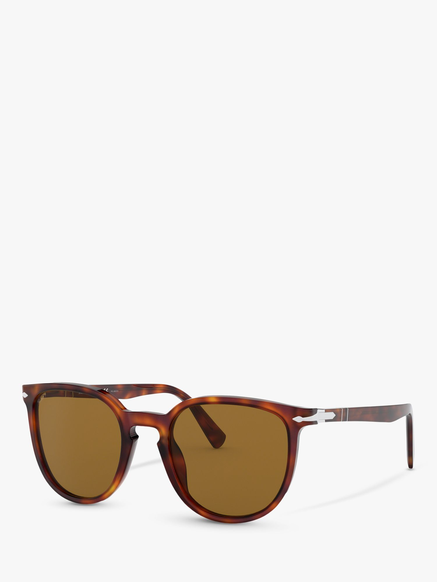 Persol Persol PO3226S Special Edition Polarised Oval Sunglasses, Havana/Brown