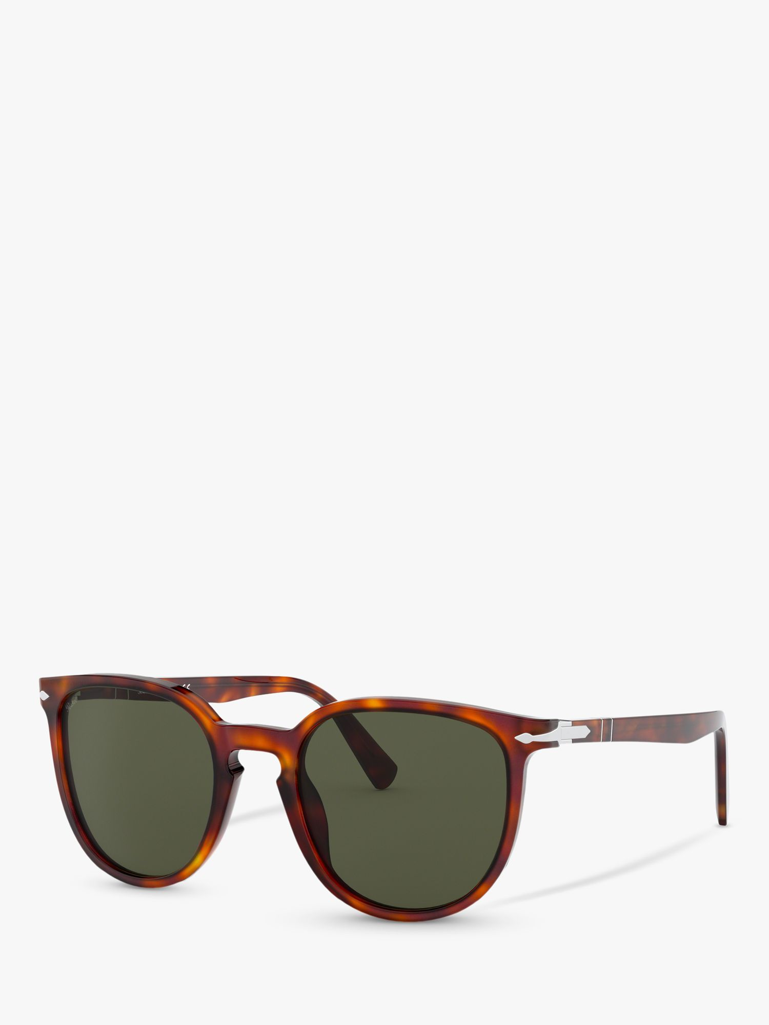 Persol Persol PO3226S Special Edition Oval Sunglasses, Havana/Green