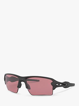 Oakley OO9188 Men's Flak 2.0 XL Prizm™ Rectangular Sunglasses, Grey/Pink