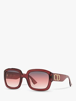 Dior CD001084 Women's Square Sunglasses, Red/Red Gradient