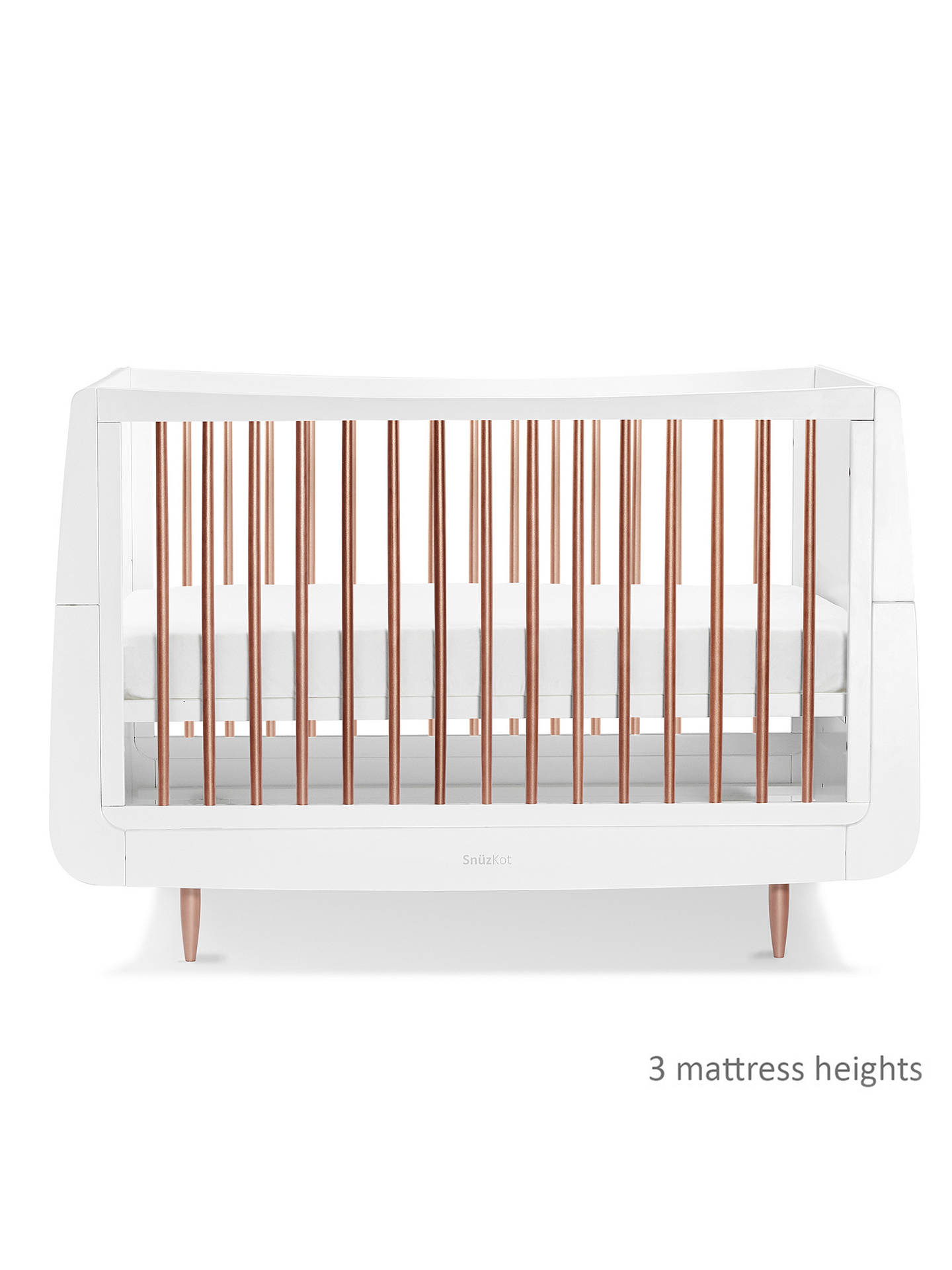 Buy Snüz Snüzkot Metallic Cotbed, Rose Gold/White Online at johnlewis.com