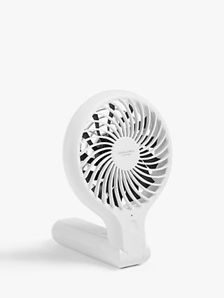 ANYDAY John Lewis & Partners Handheld and Foldable Desk Fan, 4 inch