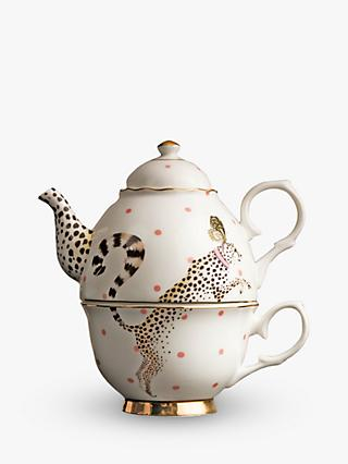 Yvonne Ellen Cheetah Tea-For-One Teapot, Multi, 300ml