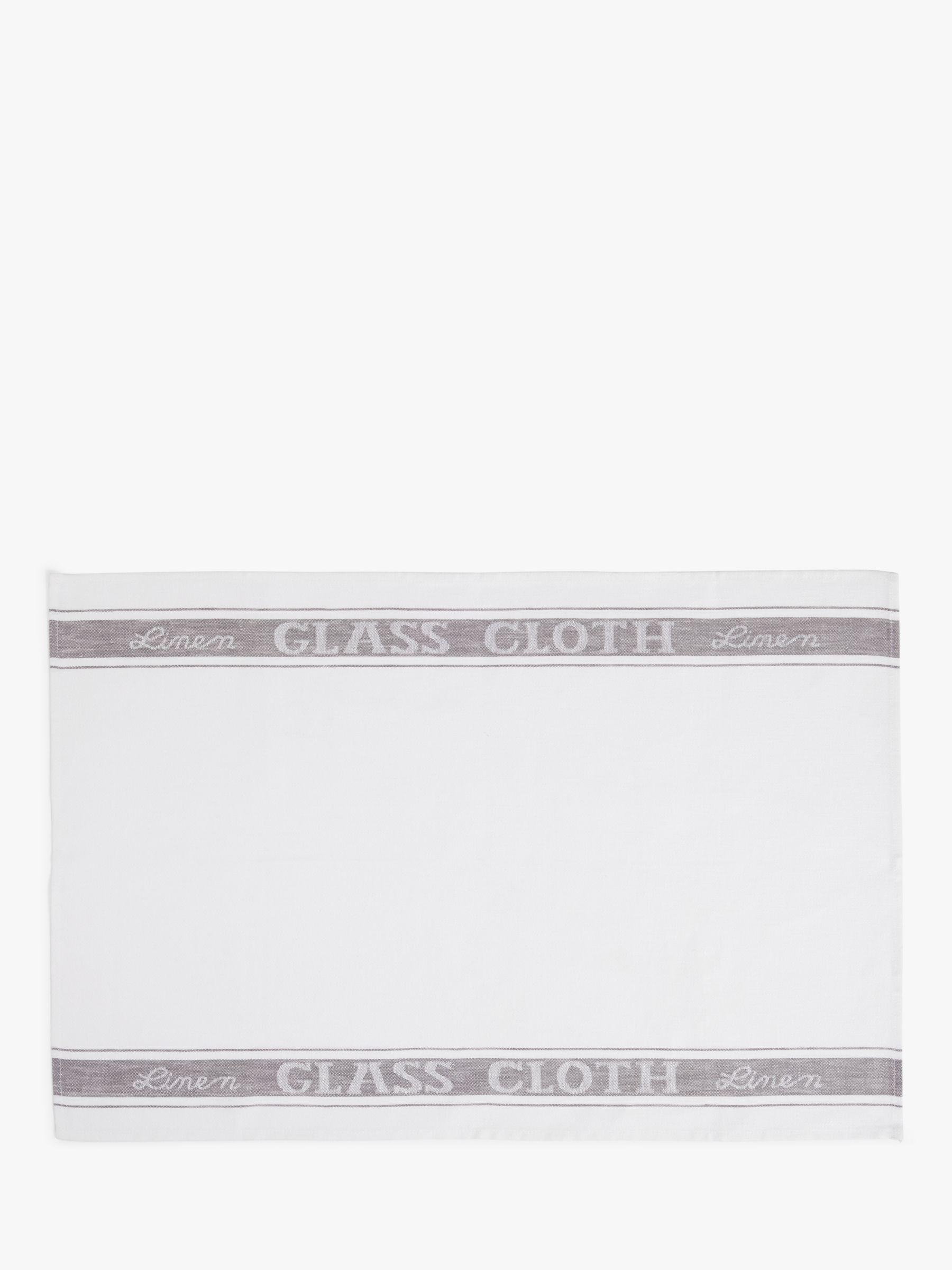 John Lewis & Partners Linen Glass Cloth Tea Towel