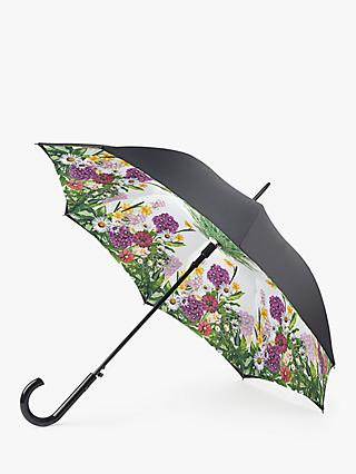 Fulton Bloomsbury Garden Glow Walking Umbrella, Black/Multi