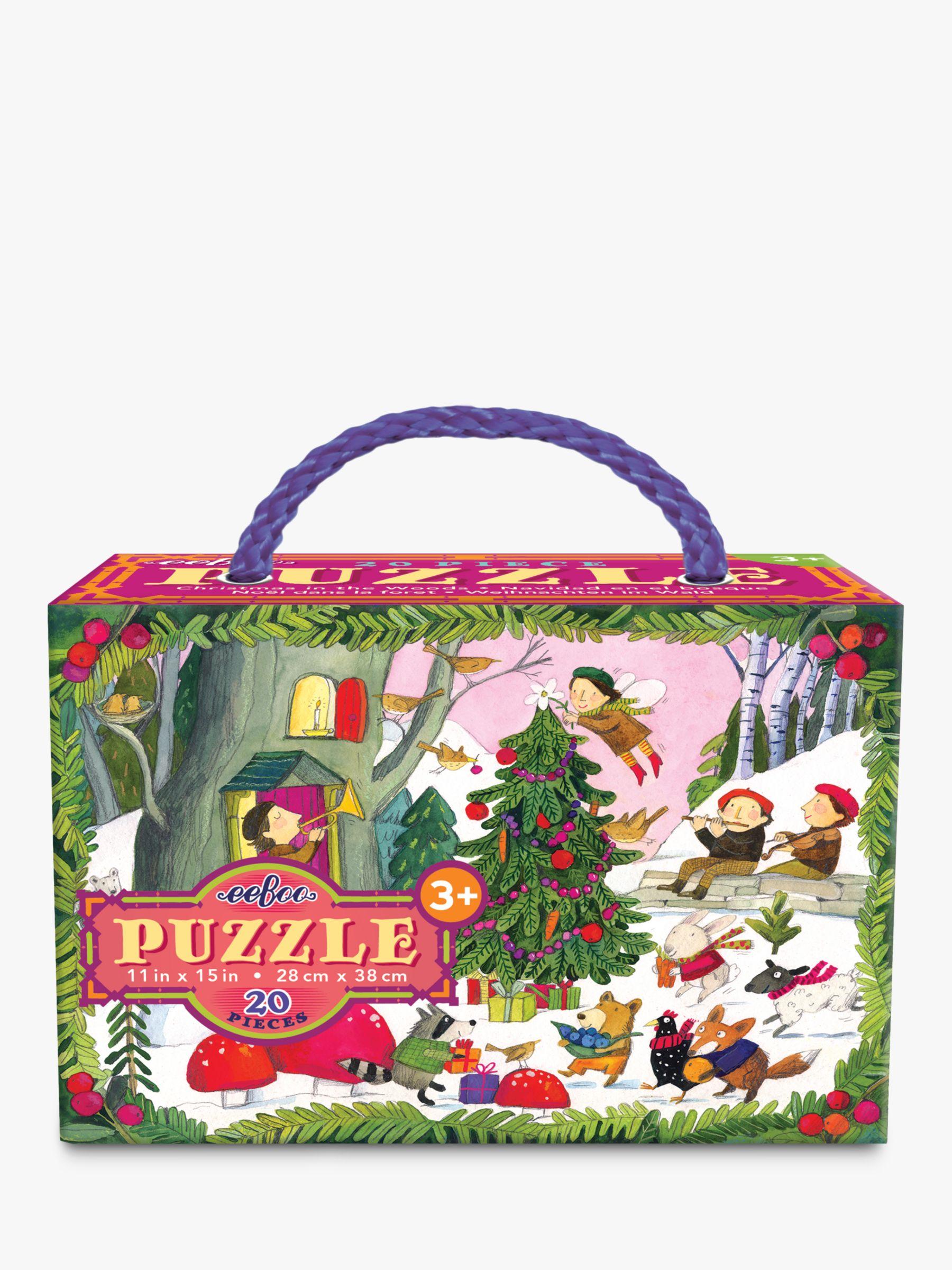 Eeboo eeBoo Christmas in the Woods Glitter Jigsaw Puzzle