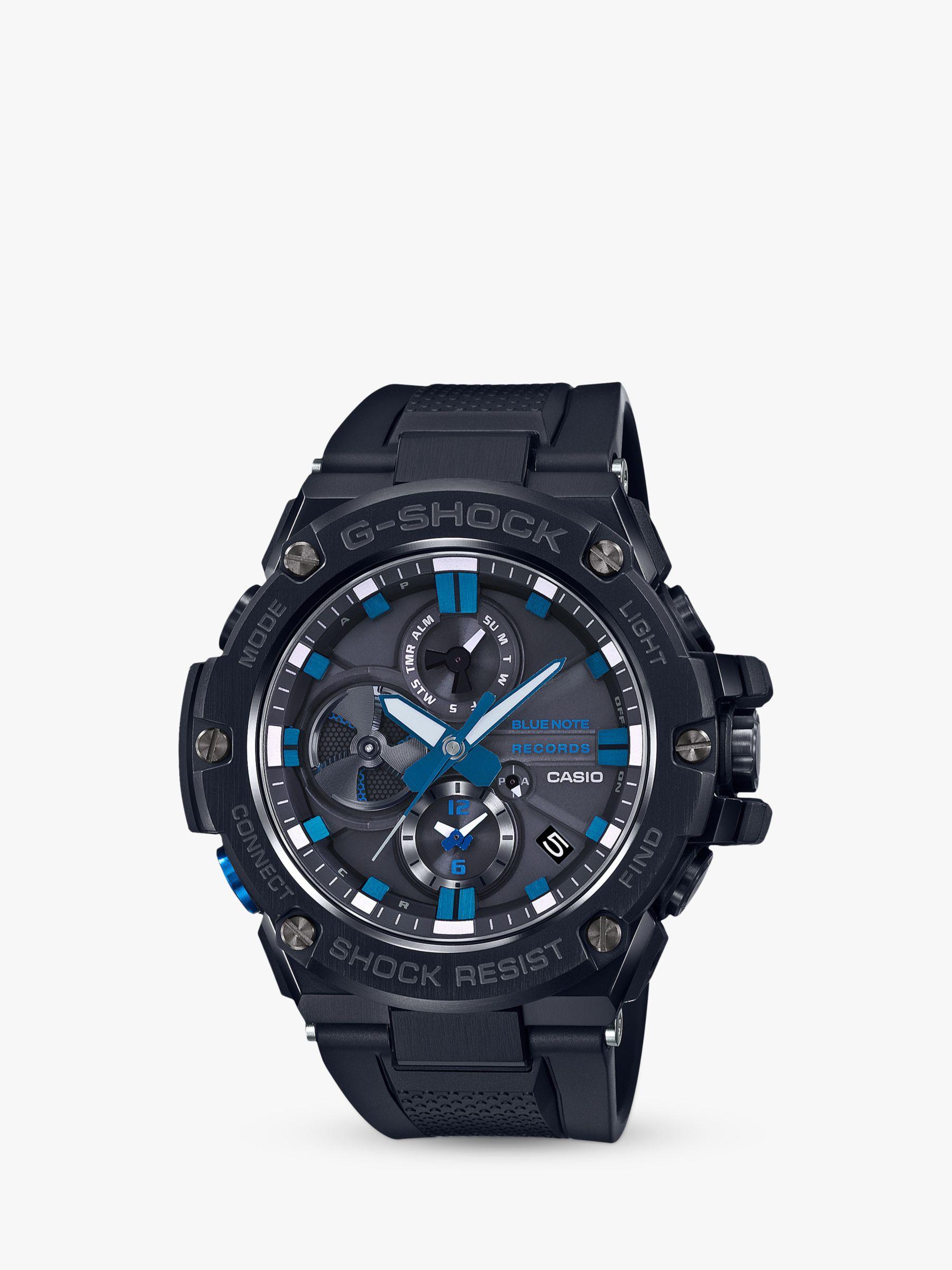 Casio Casio GST-B100BNR-1AER Men's G-Shock Bluenote Records Limited Edition Chronograph Day Date Bracelet Strap Watch, Black