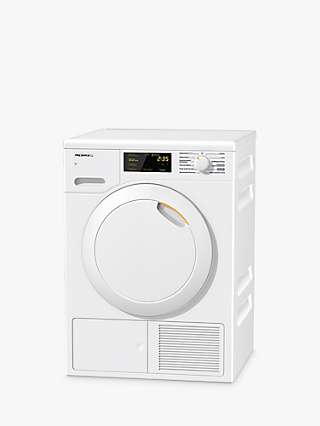 Miele TEB145 WP Heat Pump Freestanding Tumble Dryer, 7kg Load, A++ Energy Rating, White