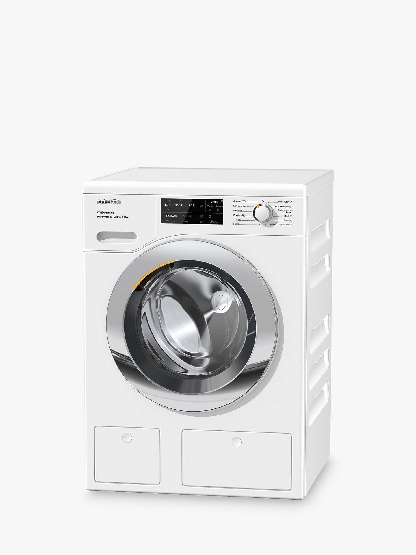 Miele WEI865 Freestanding Washing Machine, 9kg Load ...