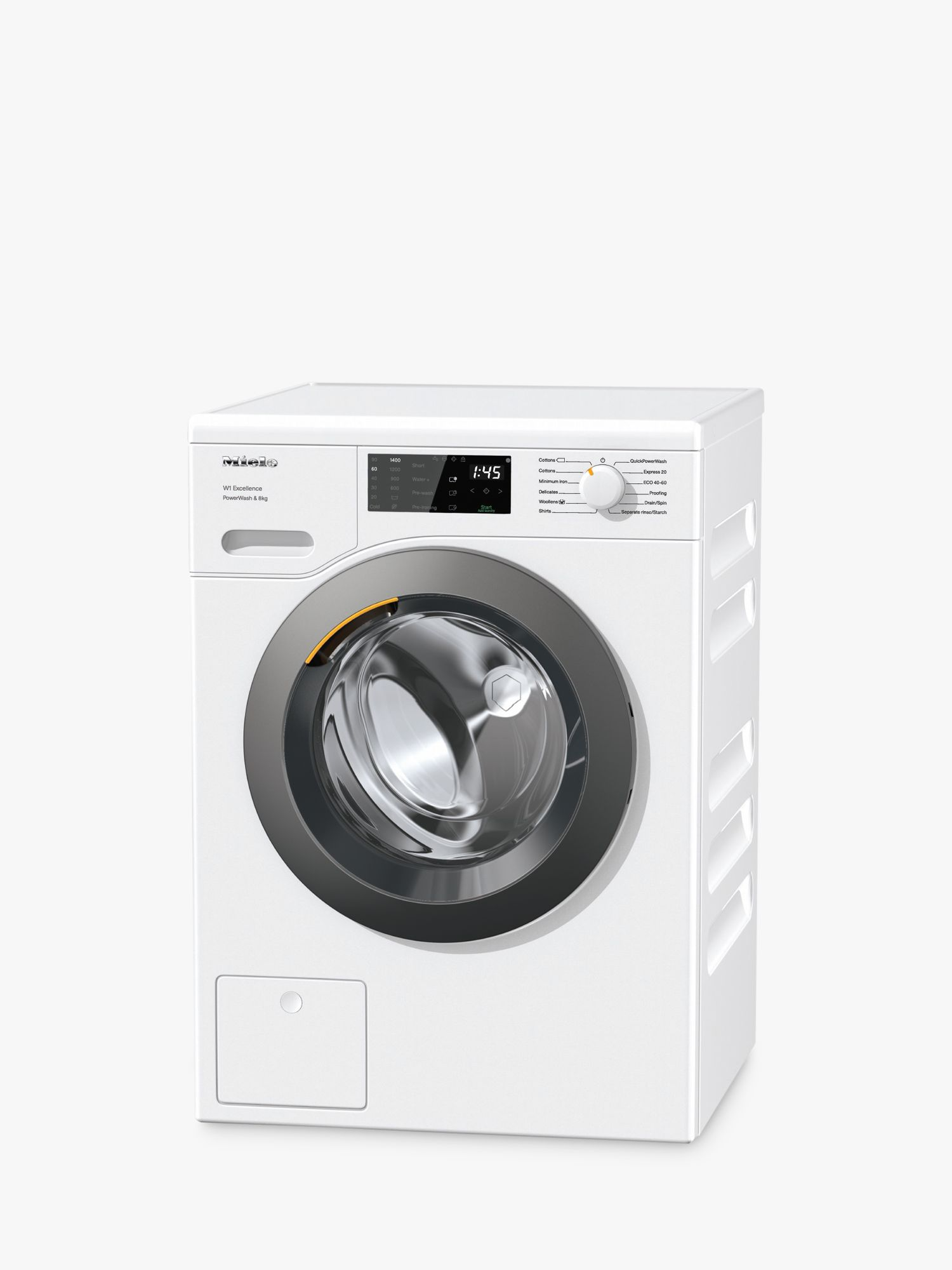 Miele Miele WED325 Freestanding Washing Machine, 8kg Load, 1400rpm, A+++ Energy Rating, White