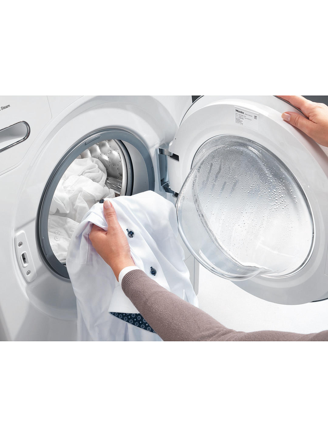 Miele WED325 Freestanding Washing Machine, 8kg Load ...