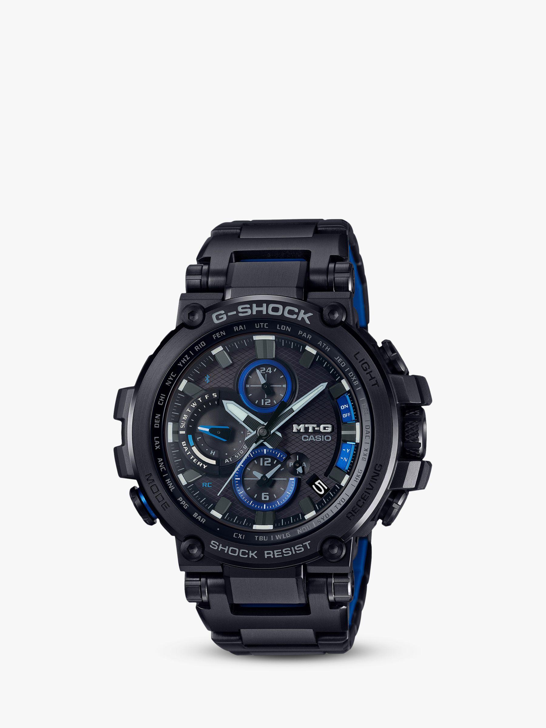 Casio Casio MTG-B1000BD-1AER Men's G-Shock Chronograph Date Bracelet Strap Watch, Black