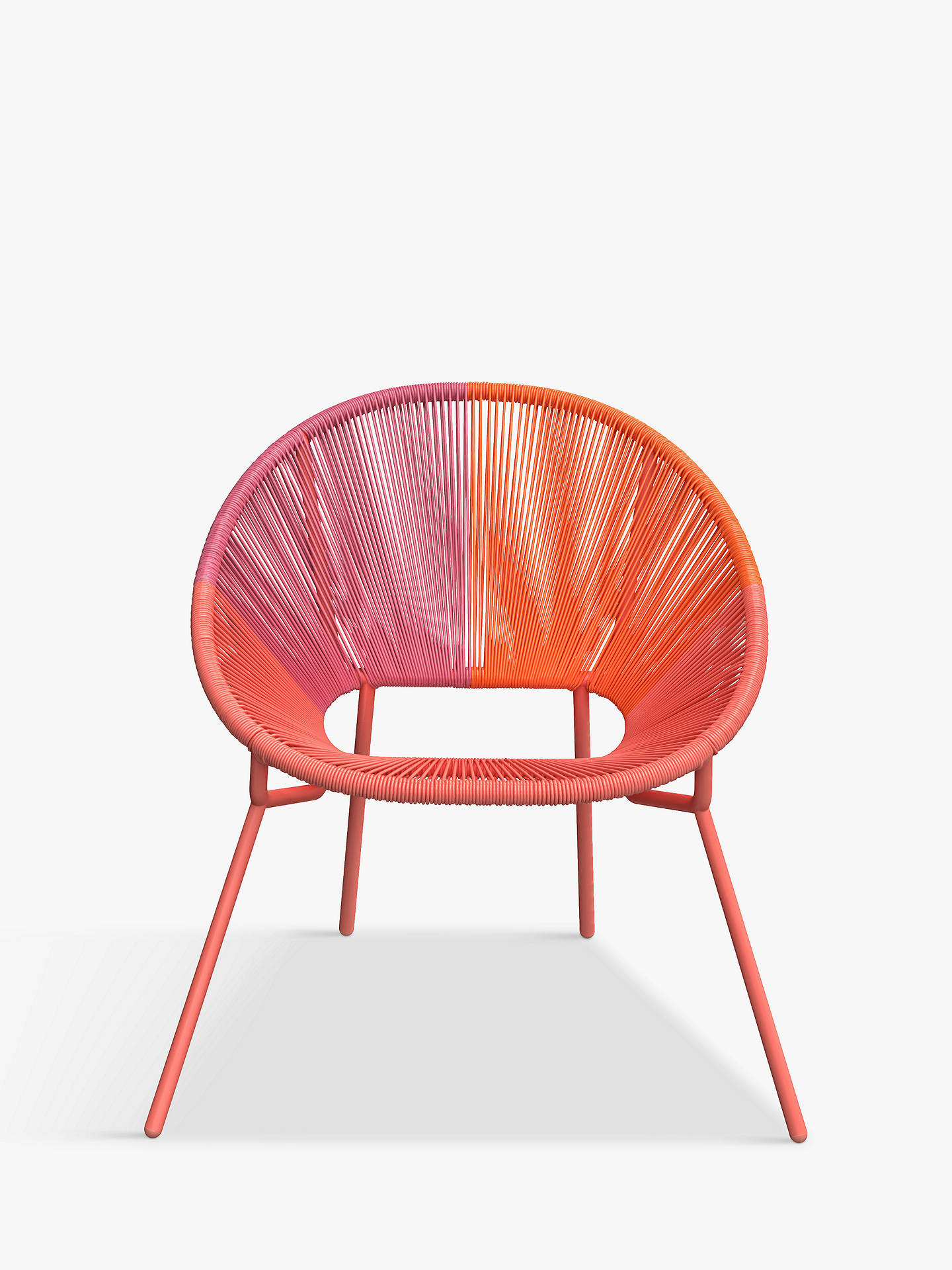Buy House by John Lewis Salsa Garden Chair, Set of 2, Orange Ombre Online at johnlewis.com