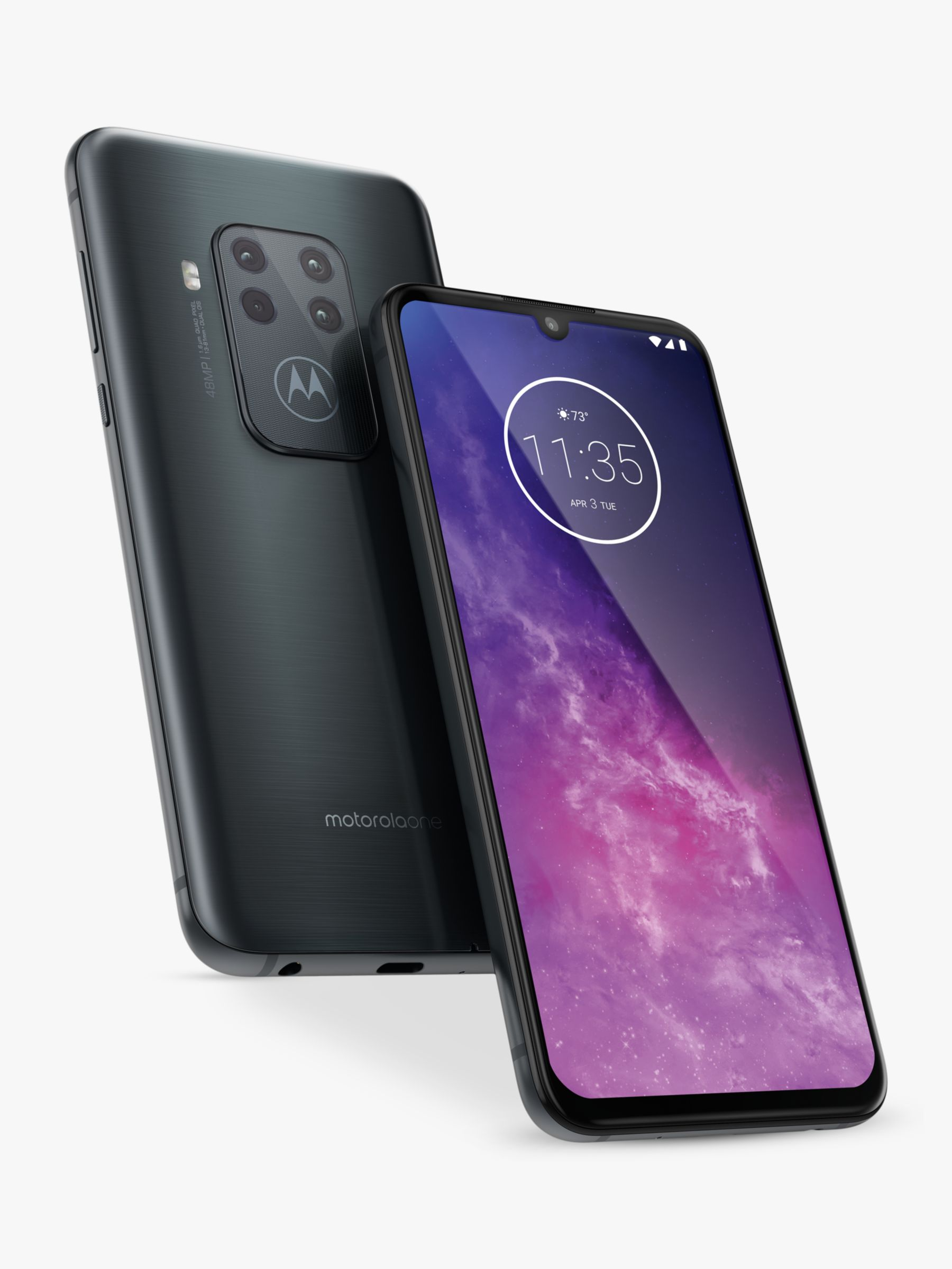 "Motorola Motorola One Zoom SIM Free Smartphone, Android, 6.4"", 4G LTE, SIM Free, 4GB RAM, 128GB, Electric Grey"
