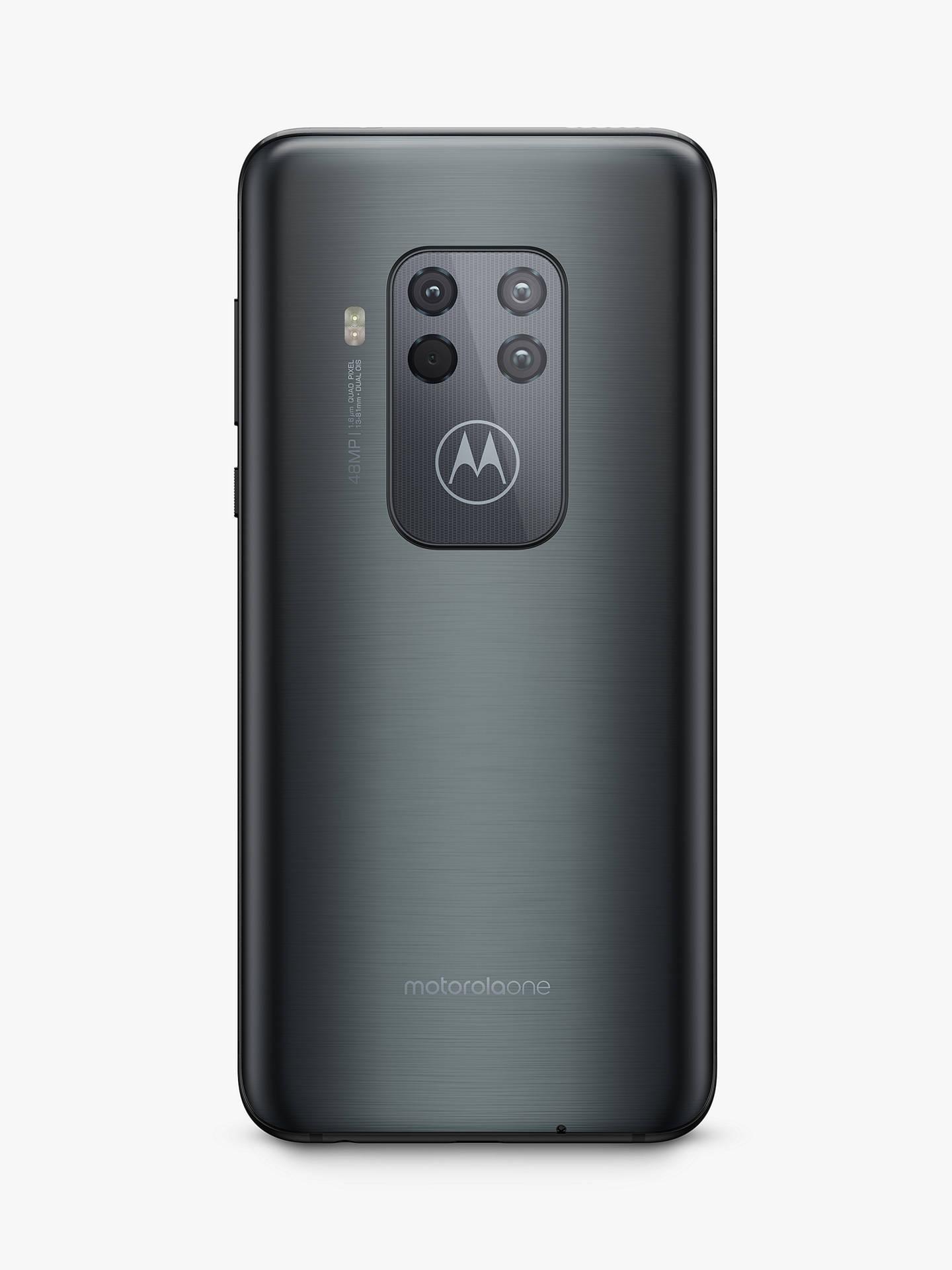 "Motorola One Zoom SIM Free Smartphone, Android, 6 4"", 4G LTE, SIM Free, 4GB  RAM, 128GB, Electric Grey"