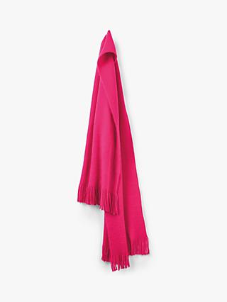 hush Rome Long Fringe Scarf, Bright Pink