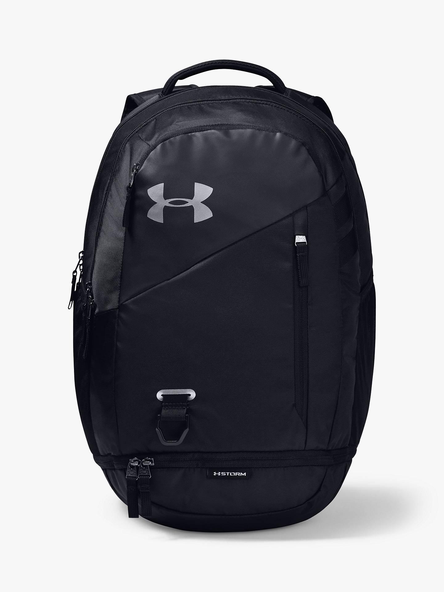 Kent Deshacer Estragos  Under Armour Hustle 4.0 Backpack, Black/Silver at John Lewis & Partners