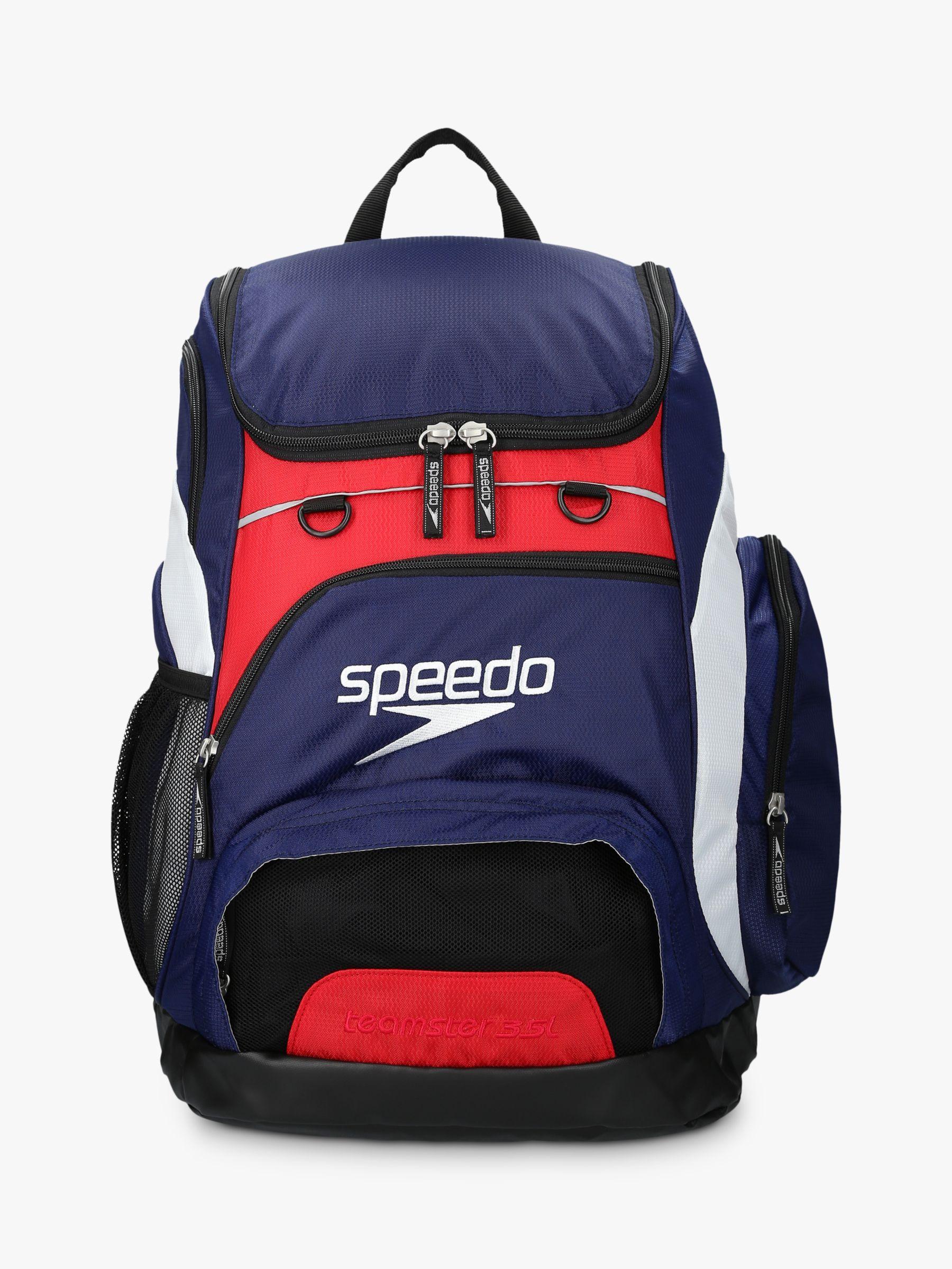 Speedo Speedo Teamster Swim Backpack, Navy/Red/White