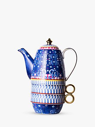 T2 Eleganza Teapot For Two, 420ml, Cobalt
