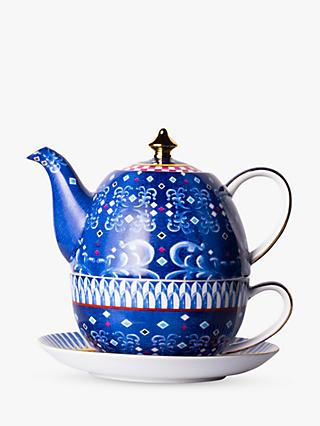T2 Eleganza Teapot For One, 520ml, Cobalt