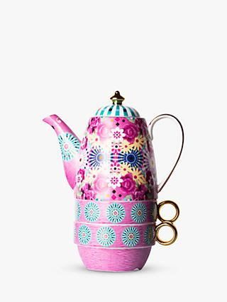 T2 Eleganza Teapot For Two, 420ml, Flamingo Pink