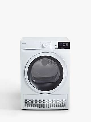 John Lewis & Partners JLTDC08 Condenser Tumble Dryer, 8kg Load, B Energy Rating, White