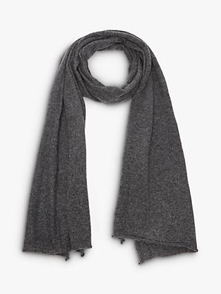 AllSaints Self Rolled Edge Wool and Cashmere Scarf