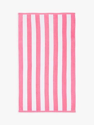 John Lewis & Partners Deckchair Stripe Beach Towel