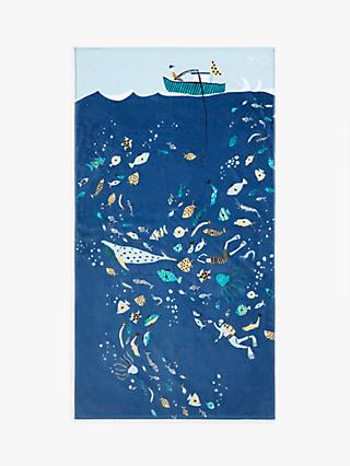 John Lewis & Partners Deep Dive Beach Towel
