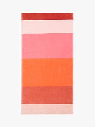 John Lewis & Partners Block Stripe Beach Towel