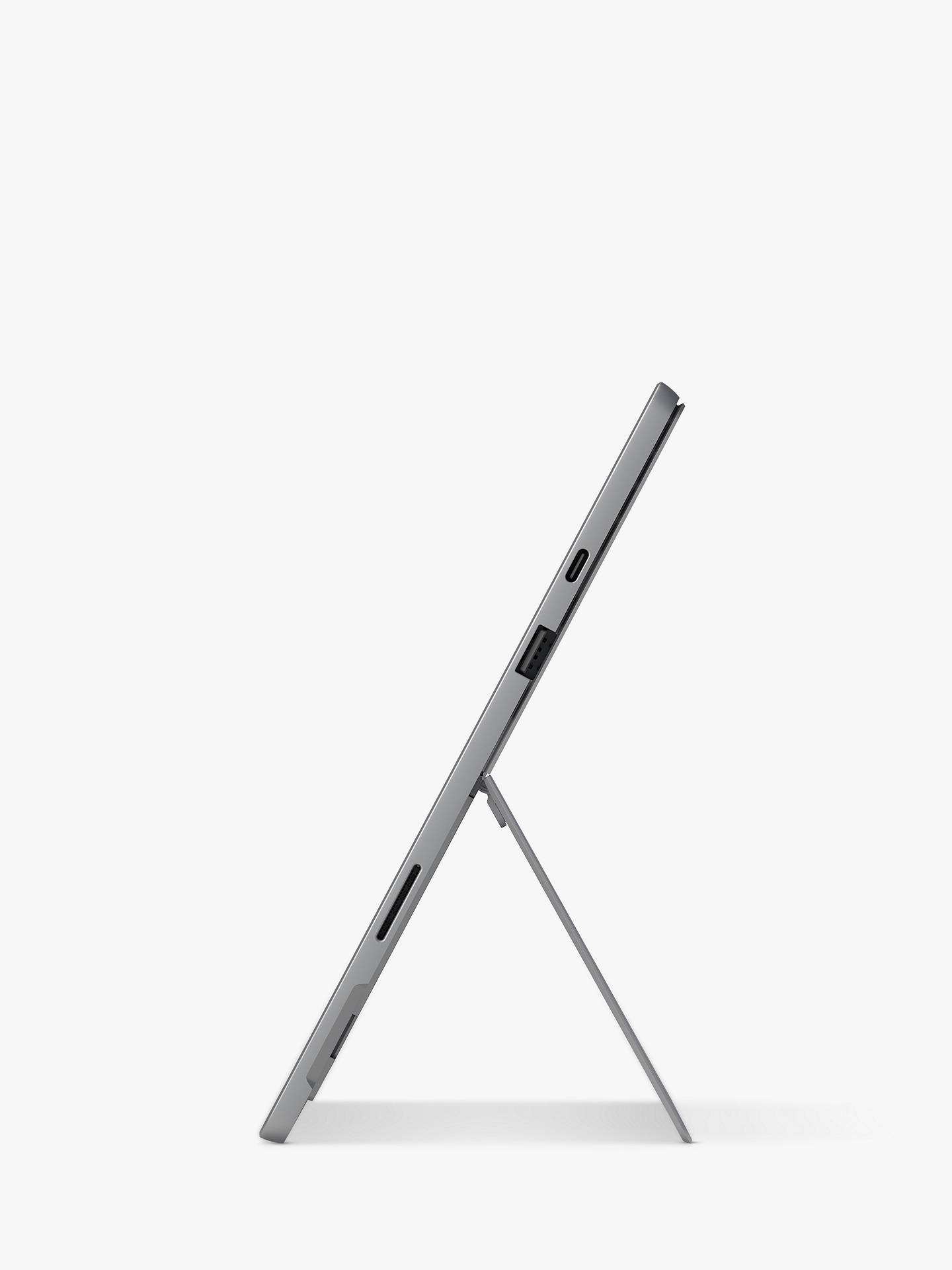 "Buy Microsoft Surface Pro 7, Intel Core i7 Processor, 16GB RAM, 256GB SSD, 12.3"" PixelSense Display, Platinum Online at johnlewis.com"