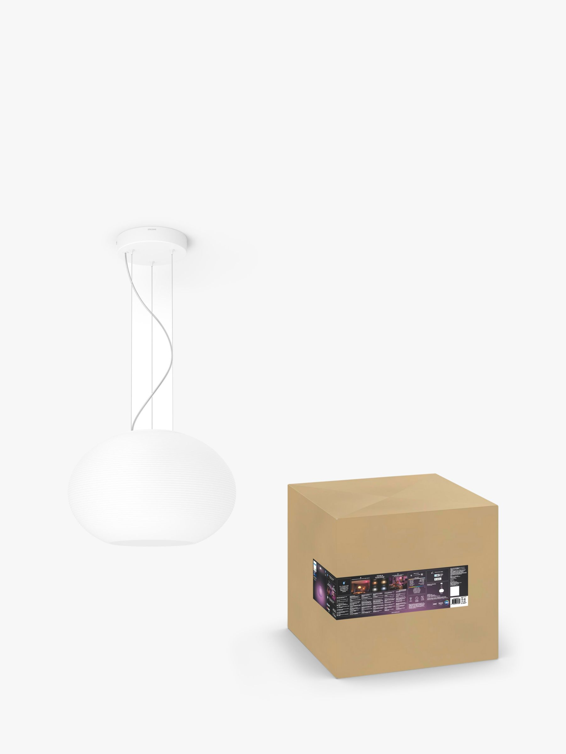 Philips Philips Hue White and Colour Ambiance Flourish LED Ceiling Light with Bluetooth, White