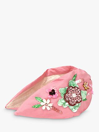 Powder Embroidered Floral Headband